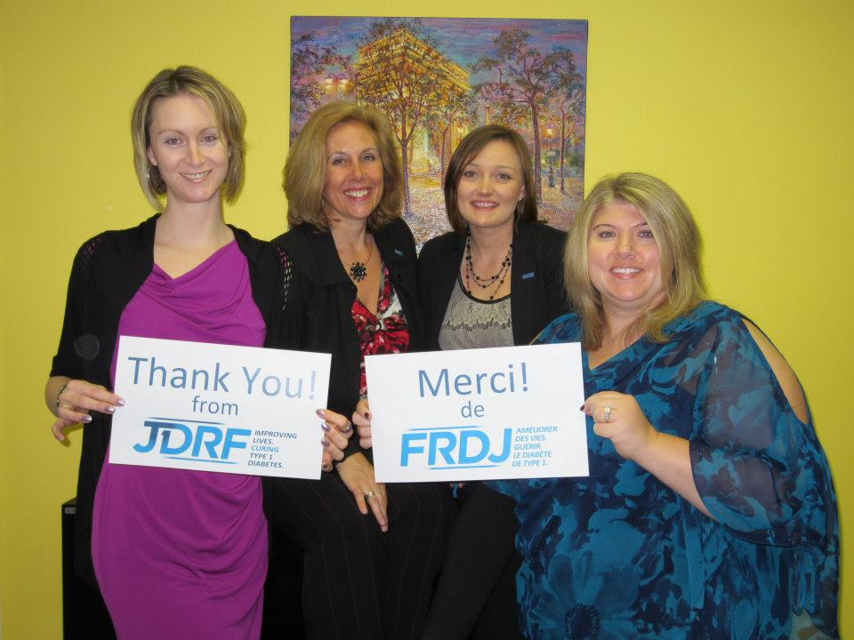 "JDRF Staff say ""Thank You"""