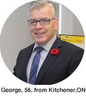 George, 56, from Kitchener, ON