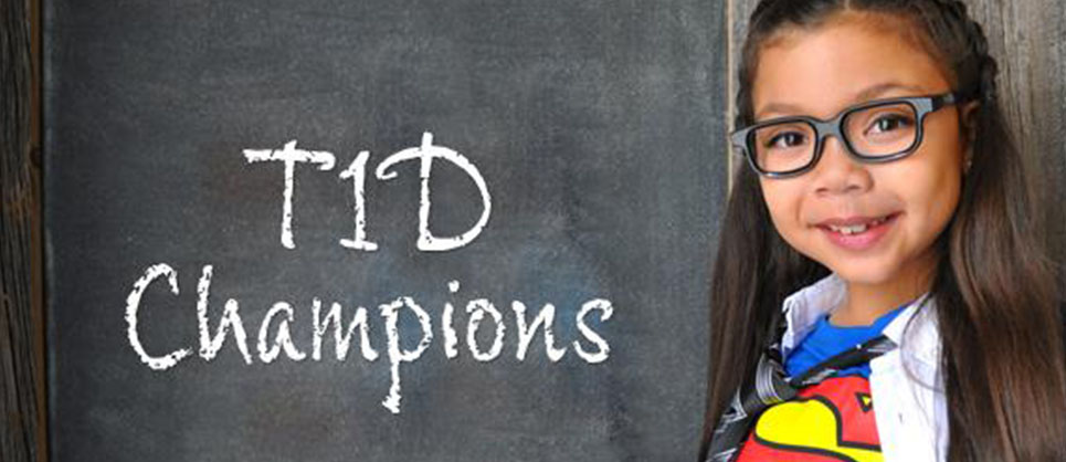 T1D Champion Blackboard Superhero Girl